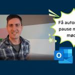 Automatisk pause mellem møder i Outlook