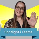 spotlight funktionen i Teams gør at du kan fremhæve en enkelt persons videofeed med