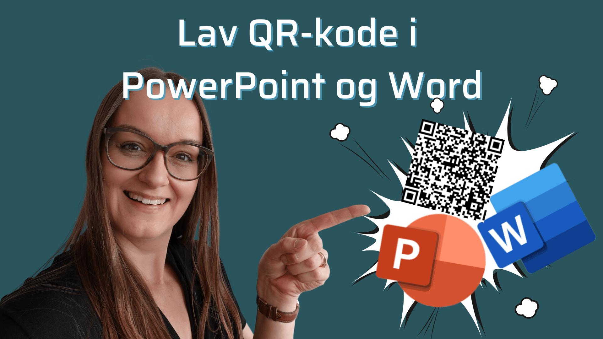 LAv en gratis QR kode i Powerpoint eller word