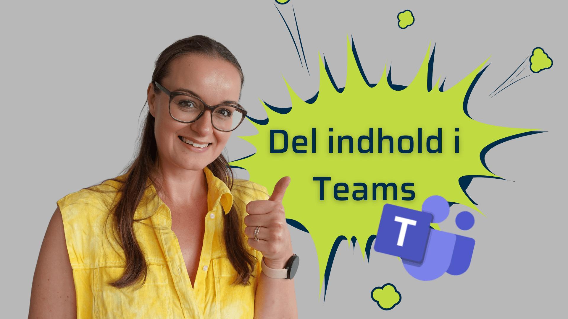 Del indhold i Teams møder